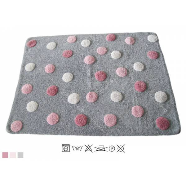 ALFOMBRA THREE COLOURS LITTLE DOT PINK