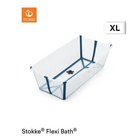 FLEXI BATH XL TRANSPARENT BLUE STOKKE STOKKE