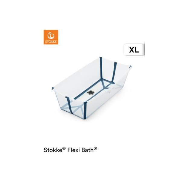 FLEXI BATH XL TRANSPARENT BLUE STOKKE STOKKE