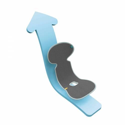 COLCHONETA 3D GRUPO 0 GRIS OSCURO AEROMOOV