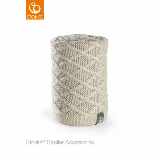 BLANKET CABLE CREAM STOKKE STROLLER STOKKE